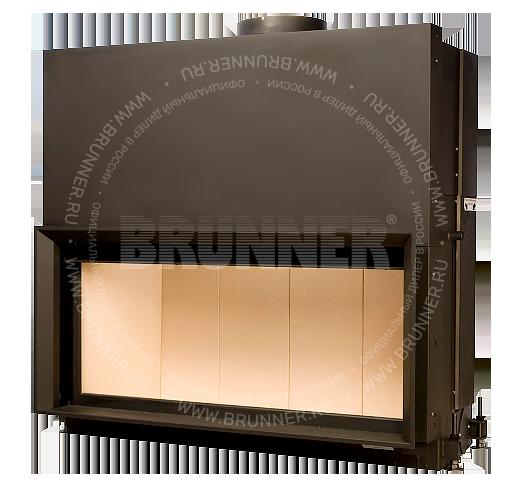 Закрытая прямая каминная топка BRUNNER Architektur-Kamin 53/121 Flat Classic с подъемом. Заказать в Москве