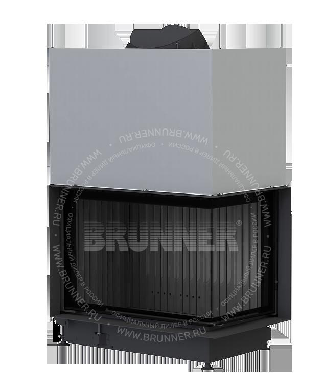 Закрытая угловая каминная топка BRUNNER Eck-Kamin Black 57/82/48 R Eck с подъемом