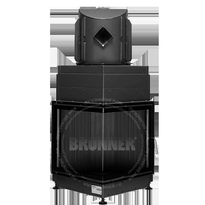 Закрытая угловая каминная топка BRUNNER Eck-Kamin 51/52/52 Black с боковым открыванием