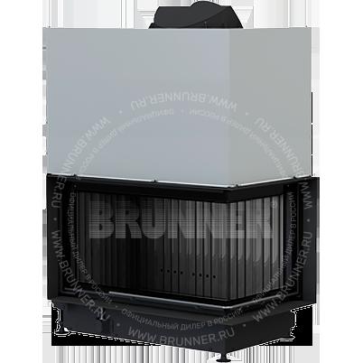 Закрытая угловая каминная топка BRUNNER Architektur-Eck-Kamin 45/82/48 Right Black с подъемом
