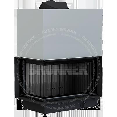 Закрытая угловая каминная топка BRUNNER Architektur-Eck-Kamin 45/82/48 Left Black с подъемом