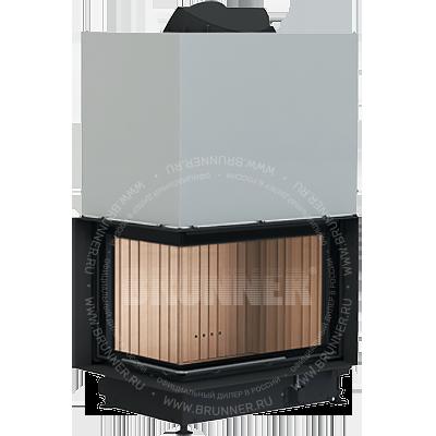 Закрытая угловая каминная топка BRUNNER Architektur-Eck-Kamin 45/67/44 L Eck Classic с подъемом