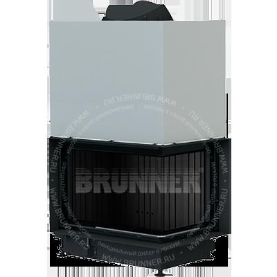 Закрытая угловая каминная топка BRUNNER Architektur-Eck-Kamin 45/67/44 R Eck Black с подъемом