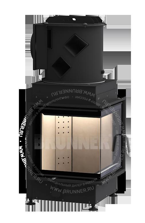 Закрытая угловая каминная топка BRUNNER Eck-Kamin 42/42/42 Eck Classic с боковым открыванием
