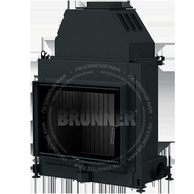 Закрытая прямая каминная топка BRUNNER Stil-Kamin 51/67 Flat Black с боковым открыванием