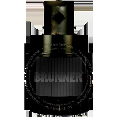 Закрытая полукруглая каминная топка BRUNNER Kompakt-Kamin 51/67 Round Black с боковым открыванием