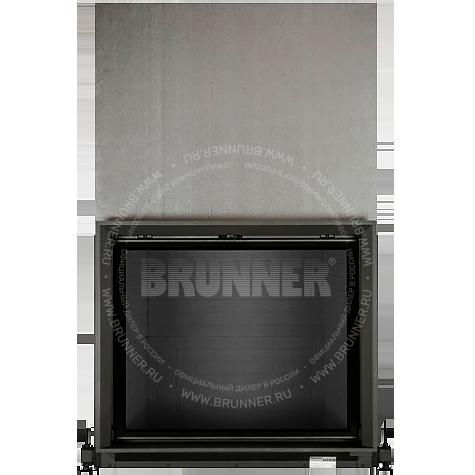 Закрытая прямая каминная топка BRUNNER Stil-Kamin 75/90 Flat Black с подъемом
