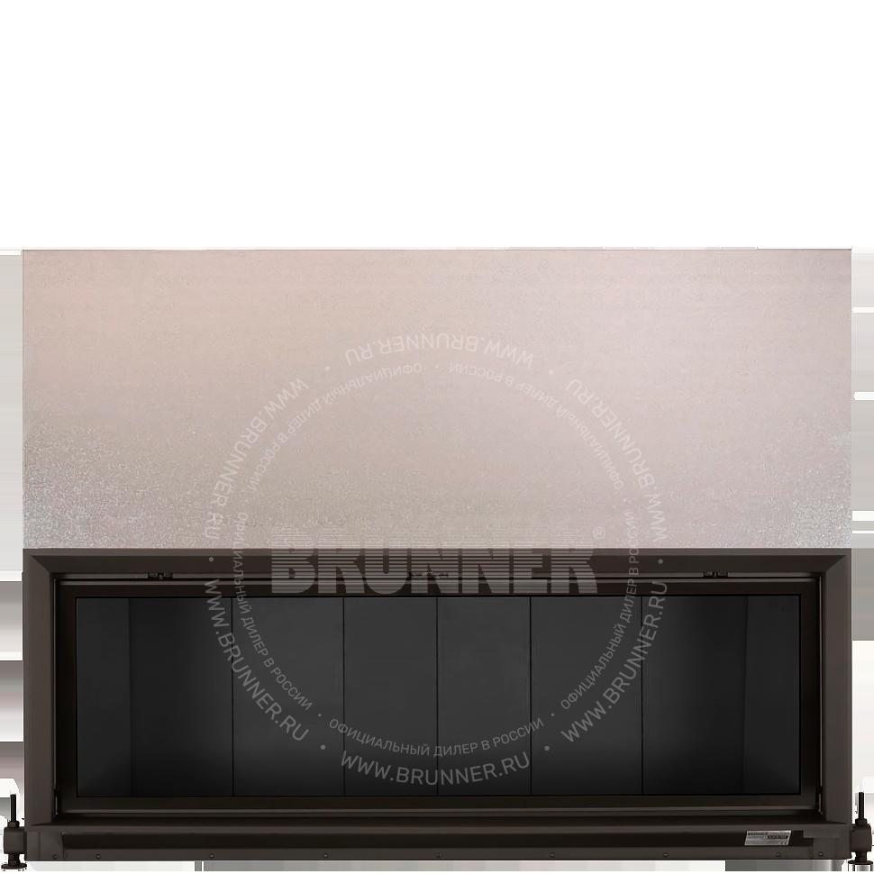 Закрытая прямая каминная топка BRUNNER Architektur-Kamin 53/166 Flat Black с подъемом.