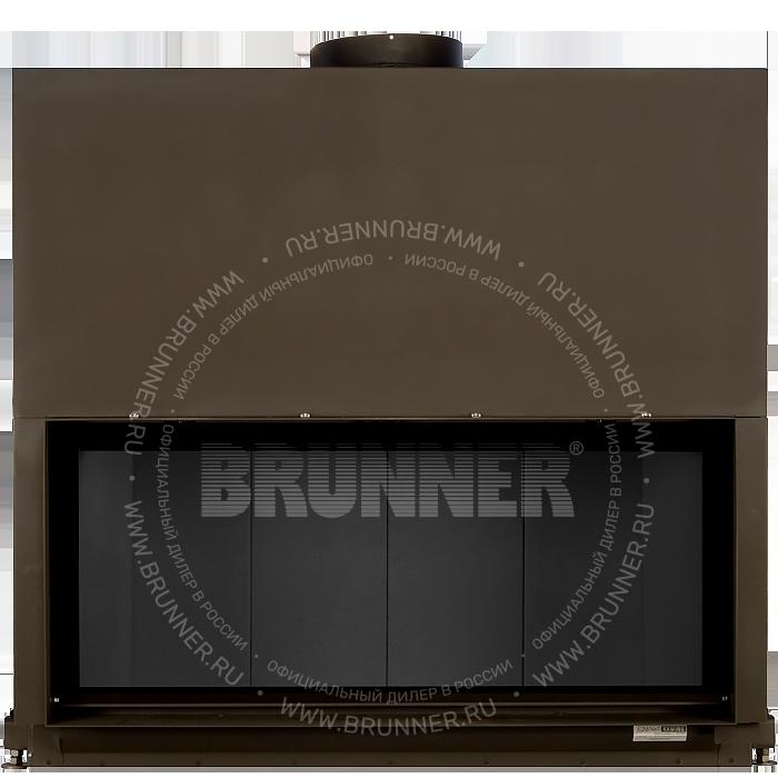 Закрытая прямая каминная топка BRUNNER Architektur-Kamin 53/121 Flat Blac с подъемом