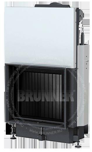 Закрытая прямая каминная топка BRUNNER Kompakt-Kamin 51/55 Flat Black с подъемом