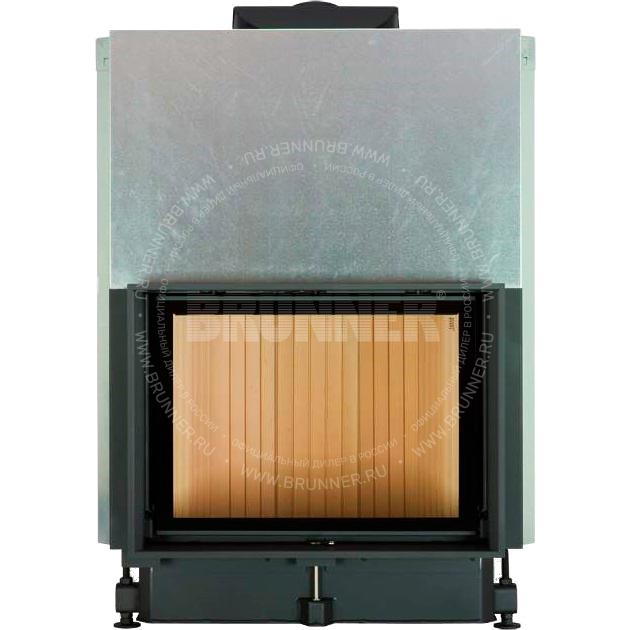 Закрытая прямая каминная топка BRUNNER Kompakt-Kamin 51/67 Flat Classic с подъемом