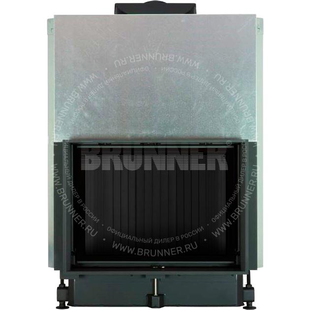 Закрытая прямая каминная топка BRUNNER Kompakt-Kamin 51/67 Flat Black с подъемом