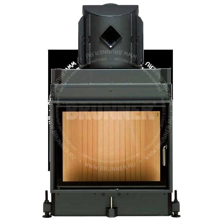 Закрытая прямая каминная топка BRUNNER Kompakt-Kamin 51/67 Flat Classic с боковым открыванием