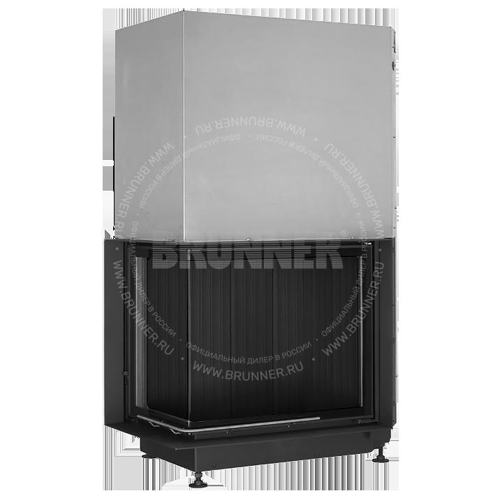 Закрытая угловая каминная топка BRUNNER Eck-Kamin 57/67/44 L Eck Black с подъемом