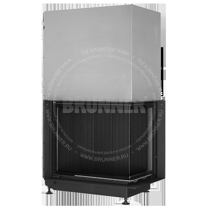 Закрытая угловая каминная топка BRUNNER Eck-Kamin 57/67/44 R Eck Black с подъемом