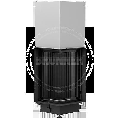 Закрытая угловая каминная топка BRUNNER Eck-Kamin 70/33/33 Eck Black с подъемом