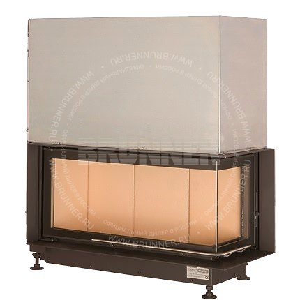 Закрытая угловая каминная топка BRUNNER Eck-Kamin 38/86/36 R Classic с подъемом