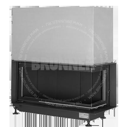 Закрытая угловая каминная топка BRUNNER Eck-Kamin 38/86/36 R Black с подъемом