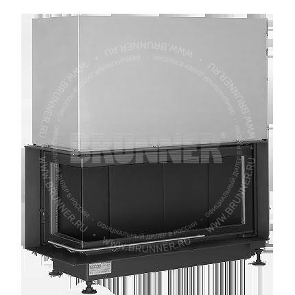 Закрытая угловая каминная топка BRUNNER Architektur-Kamin Eck 38/86/36 L Black с подъемом
