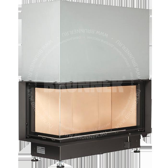 Закрытая угловая каминная топка BRUNNER Architektur-Kamin Eck 45/101/40 L Classic с подъемом