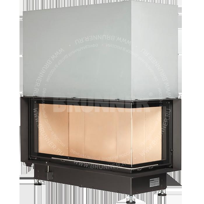Закрытая угловая каминная топка BRUNNER Architektur-Kamin Eck 45/101/40 R Classic с подъемом