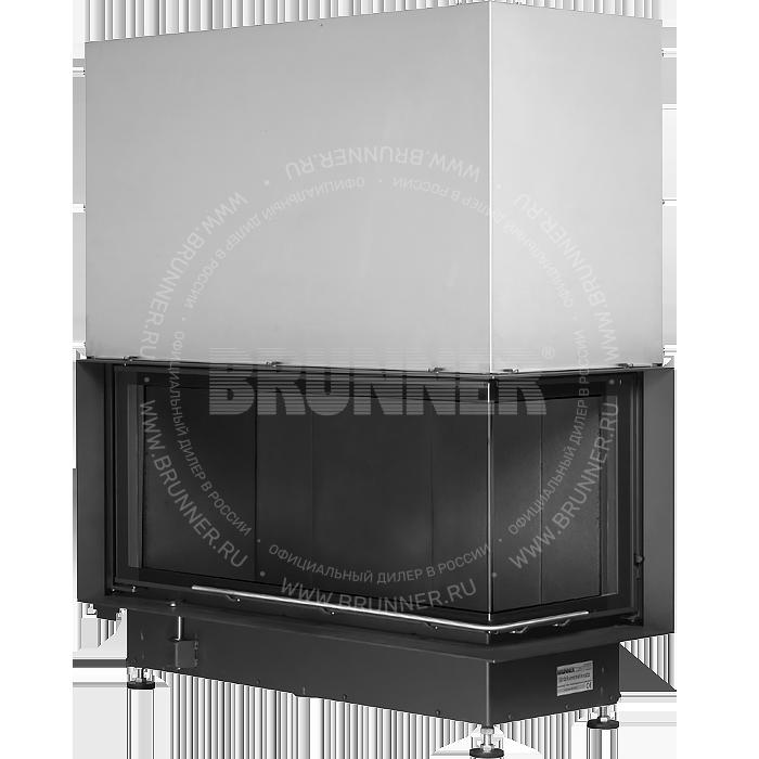 Закрытая угловая каминная топка BRUNNER Architektur-Kamin Eck 45/101/40 L Black с подъемом