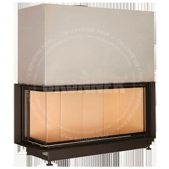 Закрытая угловая каминная топка BRUNNER Architektur-Kamin Eck 53/121/50 L Classic с подъемом