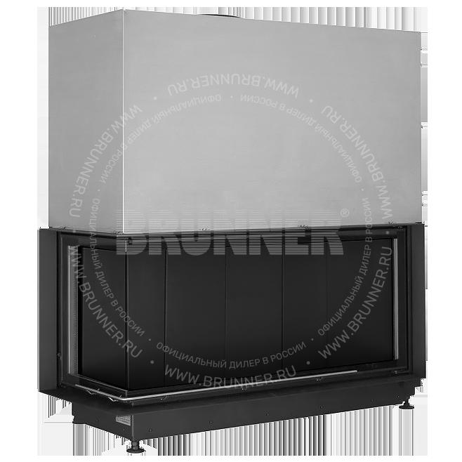 Закрытая угловая каминная топка BRUNNER Architektur-Kamin Eck 53/121/50 L Black с подъемом