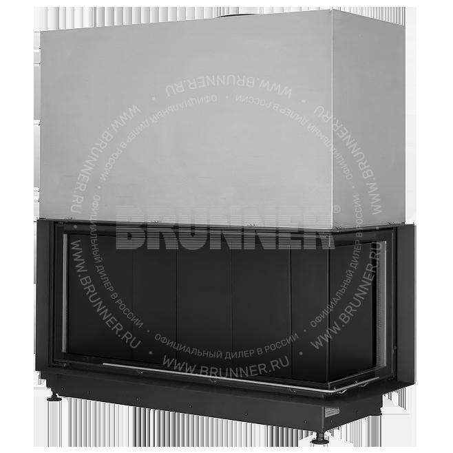 Закрытая угловая каминная топка BRUNNER Architektur-Kamin Eck 53/121/50 R Black с подъемом