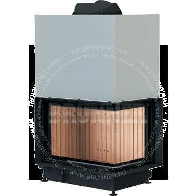 Закрытая угловая каминная топка BRUNNER Architektur-Eck-Kamin 45/67/44 R Eck Classic с подъемом